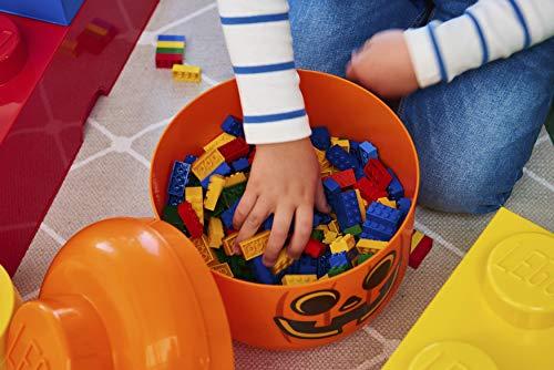 Room Copenhagen, Lego Storage Head - Stackable Storage Solution, Holds up to 250 Building Bricks - Small, Pumpkin