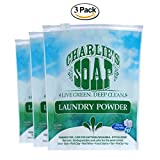Charlie's Soap - Fragrance Free Laundry Powder - 100 Loads (Three 100-load Bags, 300 Total Loads)