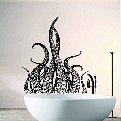 zqyjhkou Octopus Tentacles Vinyl Wall Sticker Baño Decoración Sea ...