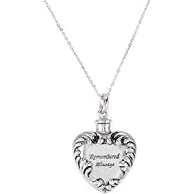 "Image result for ""REMEMBERED ALWAYS"" ASH HOLDER PENDANT & CHAIN IN STERLING SILVER"