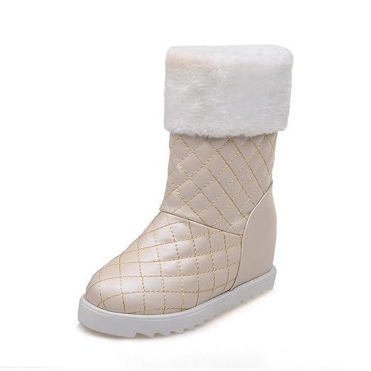 Girls Platform Heighten Inside Lattice Imitated Leather Boots