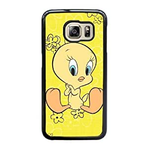 Grouden R Create and Design Phone Case,Tweety Bird Cell Phone Case for Samsung Galaxy S6 Edge Black + 1*Touch Stylus Pen (Free) GHL-2863026