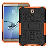 FALIANG Samsung GalaxyTab S2 T710(8 inch) Case, Dual Layer Armor Combo Shockproof Heavy Duty Shield Hard Case Cover for Samsung GalaxyTab S2 T710(8 inch) (Orange)