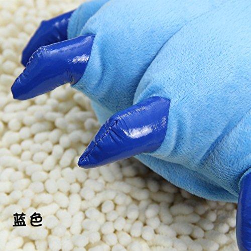 Hochwertige klassische Coral Unisex Claw Plüsch Hausschuhe Blue