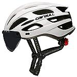 Cairbull-Casco-Ciclo-Casco-Ciclismo-Regolabile-Uomo-Donne-Adulto-Mountain-Sicurezza-Protezione-Caschi-Bicicletta-Dotato-di-Luce-LEDOcchiali-da-Sole-VisieraBrim