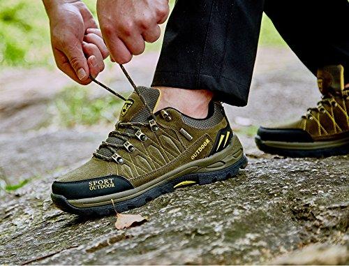 Chaussures de Randonnée Outdoor pour Hommes Femmes Basses Trekking et Les Promenades Sneakers Verte Bleu Noir 36-47 2