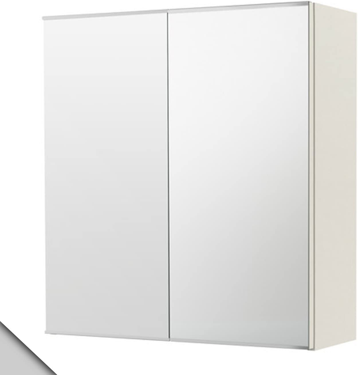 Ikea Lillangen Mirror Cabinet With 2 Doors White Amazon Co Uk Office Products