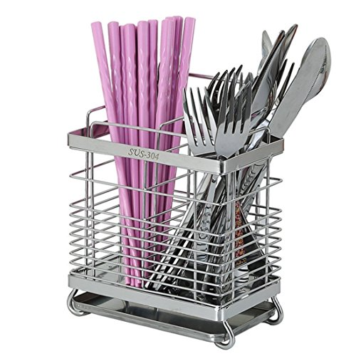 VANCORE 304 Stainless Steel Kitchen Cutlery Utensil Drainer Holder by VANCORE