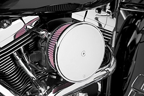 - Arlen Ness Big Sucker 18-818 Stage 2 Red Filter Chrome Cover for 1999-Newer Twin Cam CV/EFI Models (Excludes 2008-Newer Touring Models)
