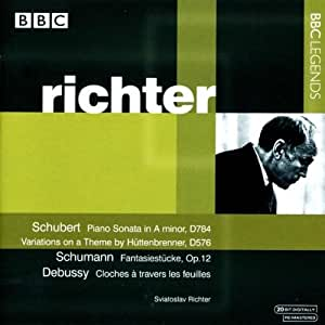 Schubert: Piano Sonata - Variations on a Theme by Huttenbrenner / Schumann: Fantasiestucke / Debussy: Cloches a Travers Les Feuilles