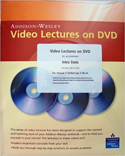 Amazon video lectures on dvd for intro stats 9780321501608 video lectures on dvd for intro stats 3rd edition fandeluxe Choice Image