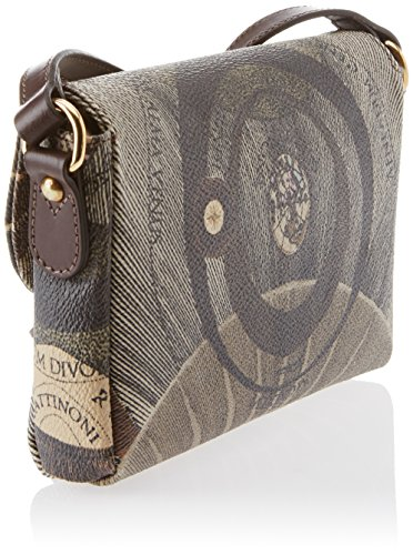 Gattinoni Gacpu0000108, Borsa a Tracolla Donna, 4x12x18 cm (W x H x L) Marrone (Diana)