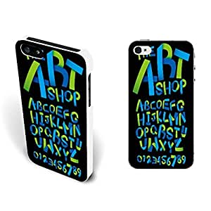 Unique Design Personalized Cell Phone Back Case Cover Skin for Iphone 5/5s (green blue monogram BY662)