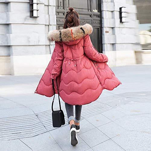 Manteaux À Veste Casual Survêtement Vestes Parka Long Capuche Rouge Bouton Dames Femmes Outwear Rembourré Xxl Zhrui Taille Manteau coloré Coton Décontractée w6qatSB