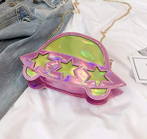 Crossbody Bag Lady Small Universe Pink Alien Fashion Tote UFO Shaped Shoulder Unique Bag Qiulv AwtBEqPn