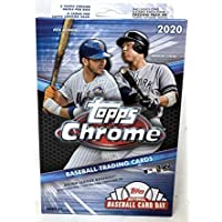 2020 Topps Chrome MLB Baseball HANGER box (20 cards PLUS one 5-card Topps Update Preview pack)
