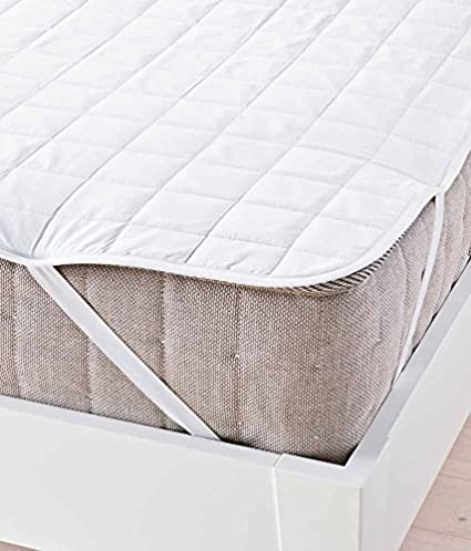 Generic Cotton Waterproof Double Bed Mattress Protector (White)