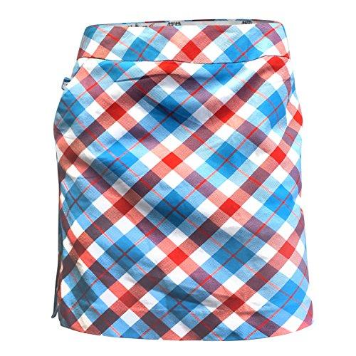 (Royal & Awesome Women's Womens Golf Skort Skirt, Plaid a Blinder, US 12/UK 16)