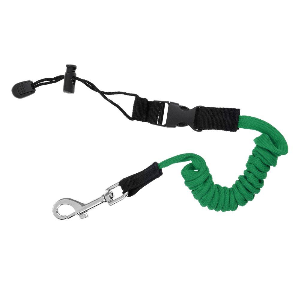 Sharplace Leash Pagaie Kayak Sangle Support B/âton Canne P/êche Corde De Securit/é Spirale Avec Mousqueton Clip