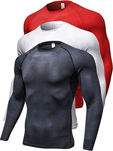 - Queerier Men's Compression Shirts Long-Sleeve Thermal Baselayer Coldgeat Fitness Running Shirts