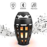 Flame Led speaker, Torch Atmosphere Bluetooth Speakers&Outdoor Portable Waterproof Stereo Speaker with HD Audio and Enhanced Bass,LED Flickers Warm Yellow Lights for iPhone/iPad/Android