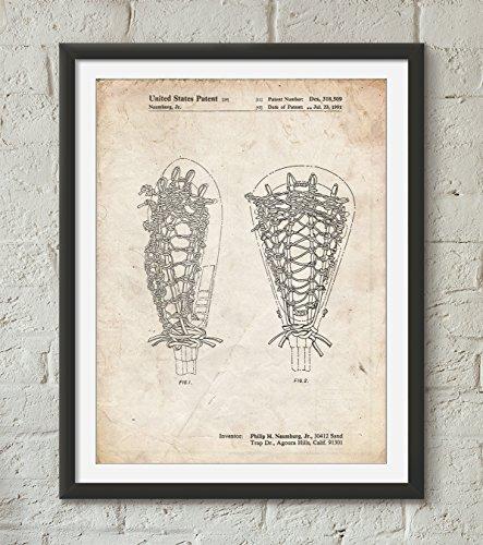 Lacrosse Stick Patent Poster