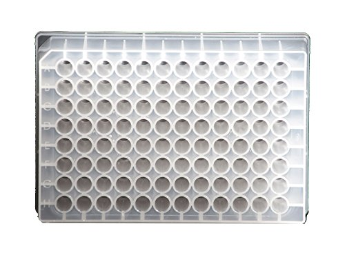 SiO2 Medical Products 810005-040-01 Ultra-Low Binding Deep Well Plate, 96 Wells, 1 mL Volume, Polypropylene (Pack of 40)