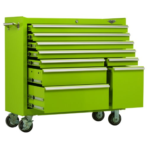 Captivating Viper Tool Storage LB4109R 41 Inch 9 Drawer 18G Steel Rolling Tool Cabinet,  Lime Green ...