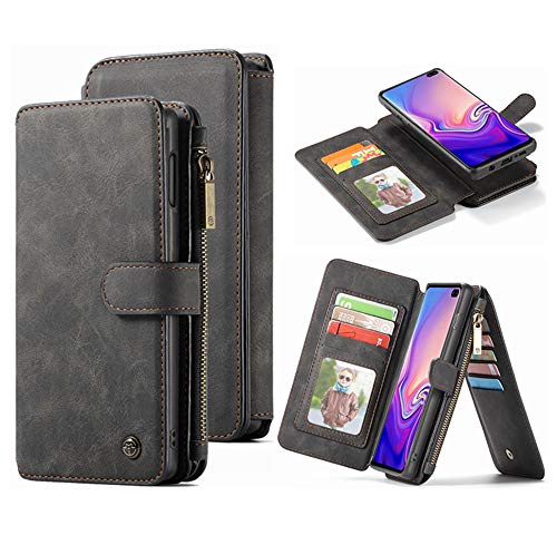 Galaxy S10 Plus Wallet Case, Hynice Magnetic Detachable Leather Case with 14 Card Slots Holder Kickstand...