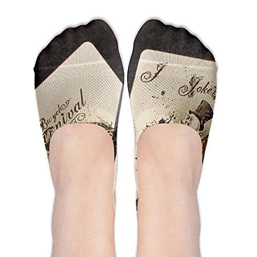 YISHOW Black Jack 21 Winner No-Show Socks Casual Anti Slip Low Cut Crew Boat Sock Hidden Flat ()
