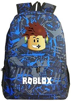 Anime Game Roblox School Bags Casual Boys Girls Backpack Kids Cartoon Book Bag