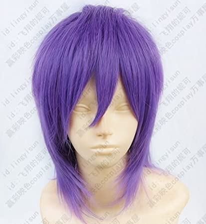Kurokos Basketball Murasakibara Atsushi Purple mix Cosplay Short Wig