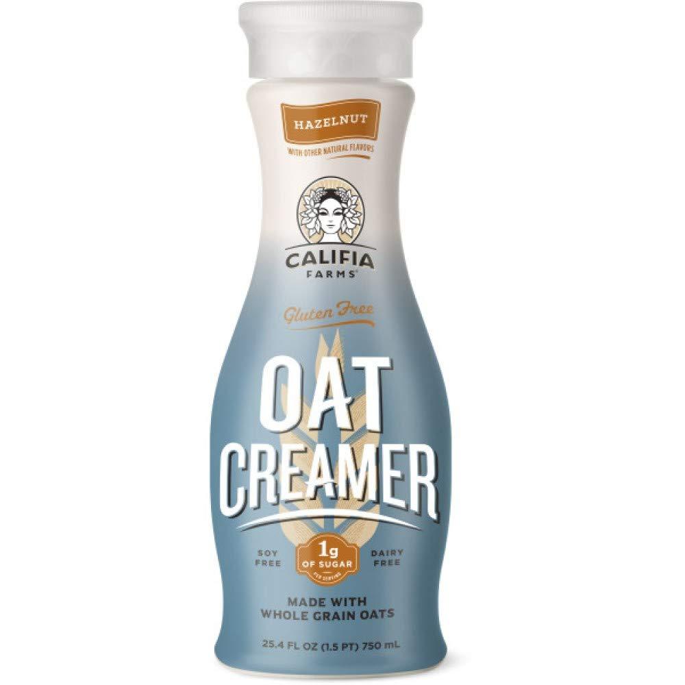 Califia Farms - Hazelnut Oat Milk Creamer, 25.4 Oz, Low Calorie and Sugar, Non Dairy, Gluten-Free, Vegan, Plant Based, Non-GMO