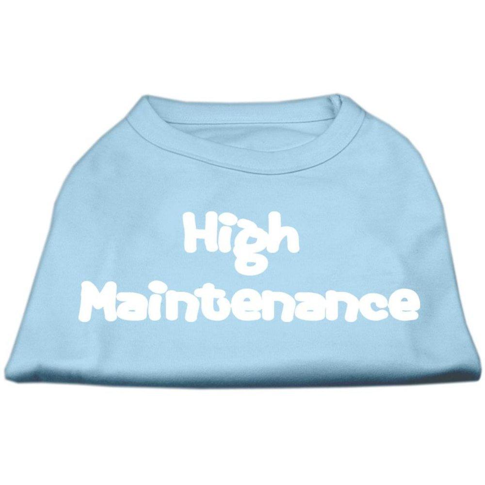Dog   Cat   Pet Charms High Maintenance Screen Print Shirts Baby bluee S (10)