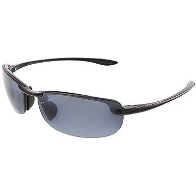29ca346a7bc3 Amazon.com: Maui Jim Makaha Reader Polarized Rimless Sunglasses, Gloss Black,  64 mm 1.5: Maui Jim