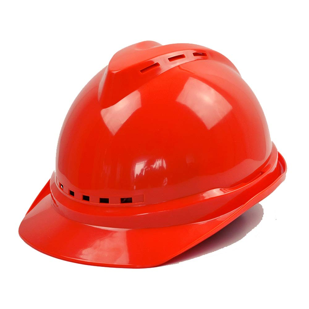 DDSS Safety Helmet - Summer Construction site Factory Ventilation Helmet Construction site Leadership Sun Protection Sunshade hat Electrician hat /-/ (Color : Red)
