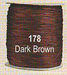 #178 Dark Brown Chainette Shawl Fringe - 1800 ft Spool