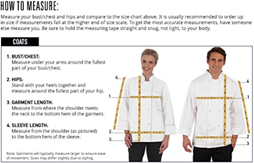 Men's Short Sleeve Chef Coat with Mesh Sides (XS-3X, 2 Colors) (Large, White) by ChefUniforms.com (Image #4)