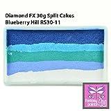 Diamond FX 30g Split Cake / One Stroke Face Paint ~ Blueberry Hill (RS30-11) by Diamond FX Split Cakes