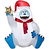 Christmas Inflatable 3.2' Bumble W/ Star Rudolph The Red Nosed Reindeer Airblown Decoration By Gemmy