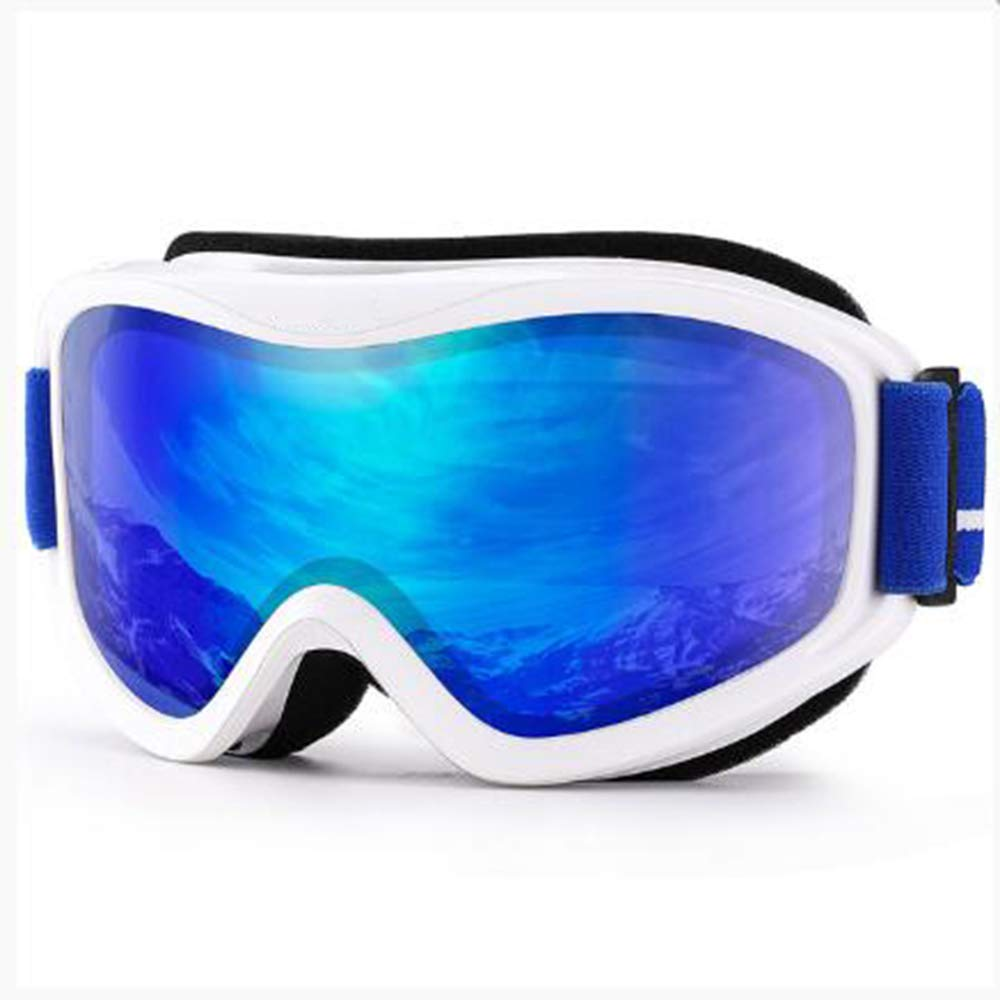 BZO Ski Goggles,Winter Snow Sports Snowboard with Anti-Fog Double Lens ski mask Glasses Skiing Men Women Snow Snowboard Goggles C12 White REVO Blue by BZO