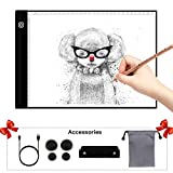 Portable Light Box A4 Ultra-Thin Drawing Tracer Light Pad Box Tracer with USB Power Artcraft Light Table for Artists/Drawing/Sketching Animation/Designing/X-ray Viewing
