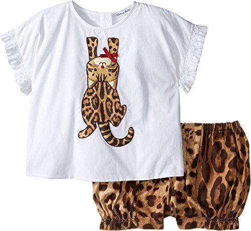 Gabbana Leopard - Dolce & Gabbana Kids Baby Girls' Zambia T-Shirt/Shorts One-Piece (Infant), White Leopard Print 3-6 Months