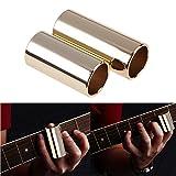 Easydeal 50mm+60mm Metal Gold Plating Slide Tone Bar for Electric Guitar Bass Stringed Instruments