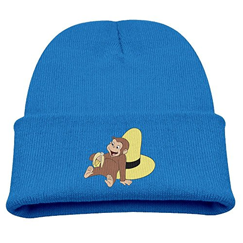 Curious George Hat (Curious George Eating A Banana Warm Winter Hat Knit Beanie Skull Cap Cuff Beanie Hat Winter Hats Children)