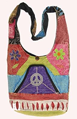 Shangri-La Nook Cotton crossbody Butterfly Gypsy Bag Handmade in Nepal