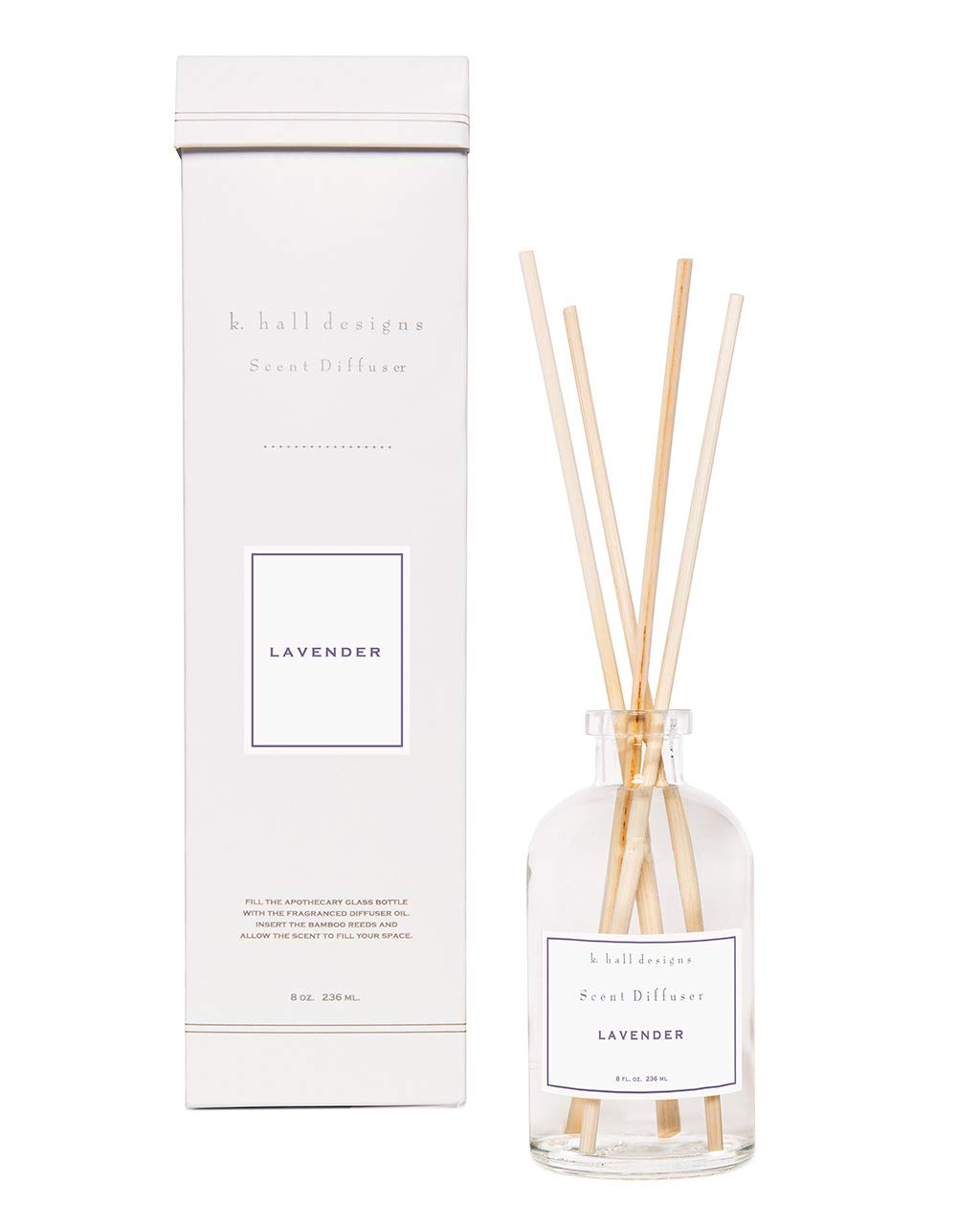 K. Hall Designs Lavender Scent Diffuser Kit