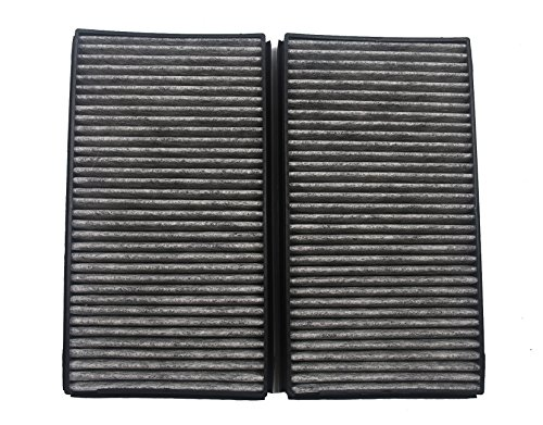 HIFROM 1 Pair Set Carbon Style Cabin Air Filters Replacement Part# 64316935823 64 31 6 935 823 (CUK 3139) for E60 E60 E61 E63 5 & 6 Series(Pack of 2)