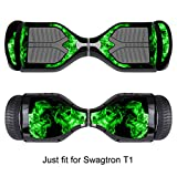 Sticker for Hover Board - Skin for Self-Balancing Electric Scooter - Decal for Self Balance Mobility Longboard - Smart Protective Cover Vinyl Case for 2 Wheel Scooter Board Fit for Swagtron T1