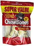 Cheap The Rawhide Express Natural 3-Pound Knotted Bones Dog Chew, Large